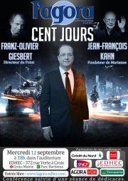 L'Agora reçoit Franz-Olivier Giesbert et Jean-François Kahn
