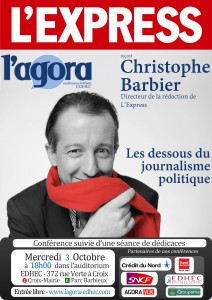 L'Agora reçoit Christophe Barbier