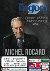 Affiche conférence Michel Rocard